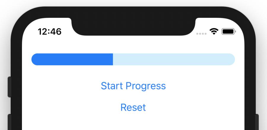 Progress bar in SwiftUI.