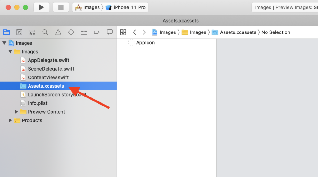Xcode's Assets.xcassets