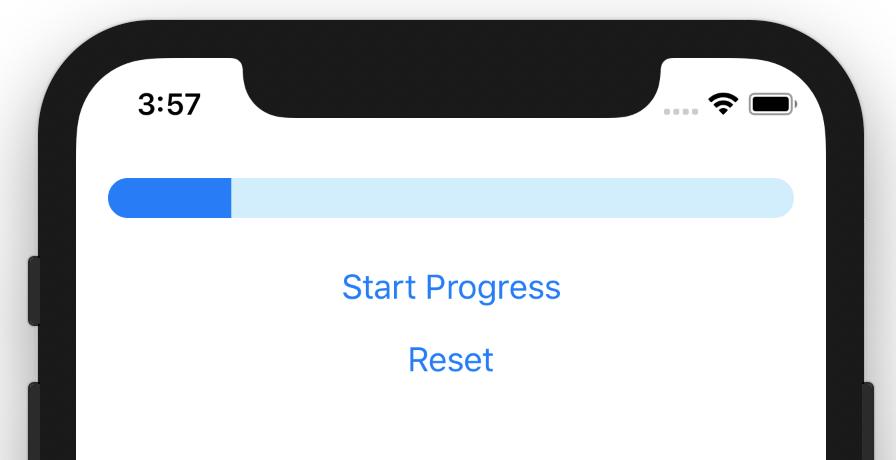 Linear progress bar in SwiftUI.