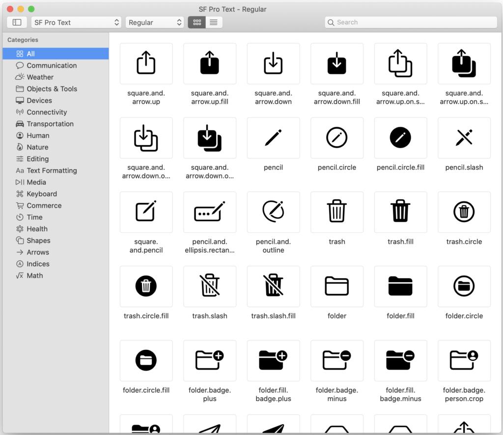 SF Symbols macOS app