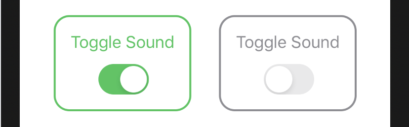 SwiftUI Toggle with custom label and border