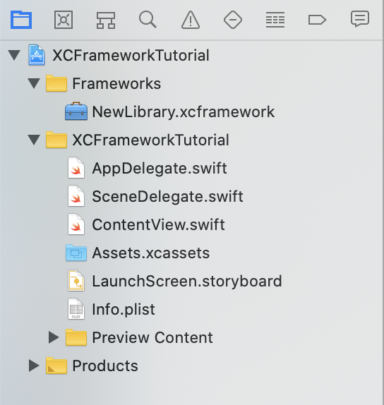 New XCFramework added to Frameworks folder