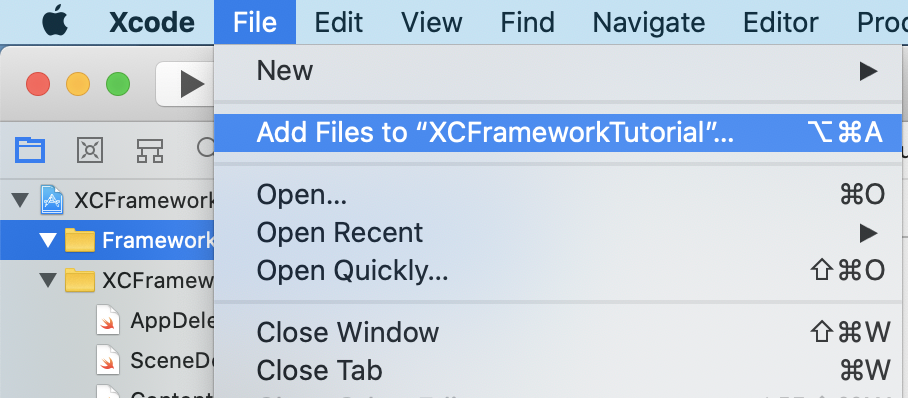 Add Files to... method