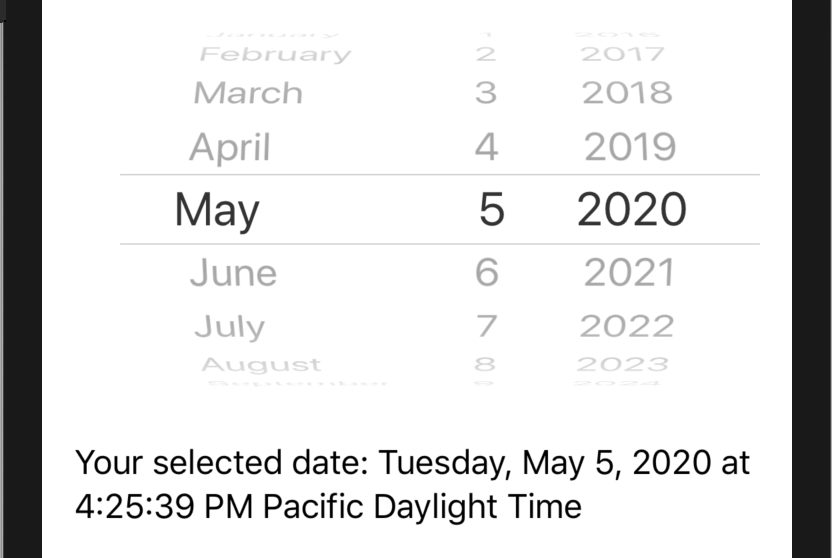 DatePicker in SwiftUI
